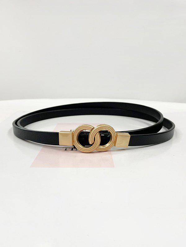 Shop Dual Ring Adjustable Thin Leather Belt