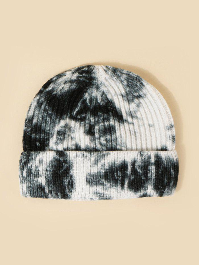 Unique Tie Dye Ribbed Turn Up Edge Knitted Hat