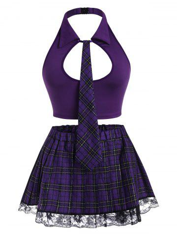 Costume | School | Plaid | Girl | Lace | Plus | Size | Set