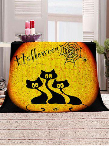 Halloween Cat Print Multifunction Cover Blanket