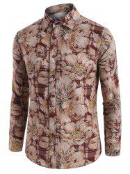 Wildflower Print Vintage Long Sleeve Shirt -