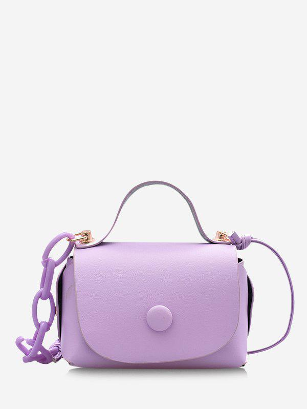 Shops Solid Chain Cover Mini Crossbody Bag