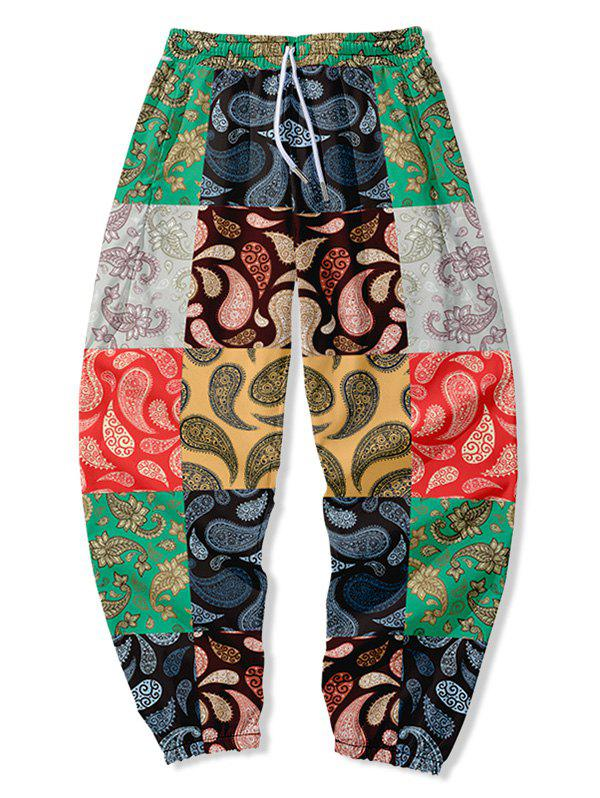 Shops Paisley Floral Patch Beam Feet Pants