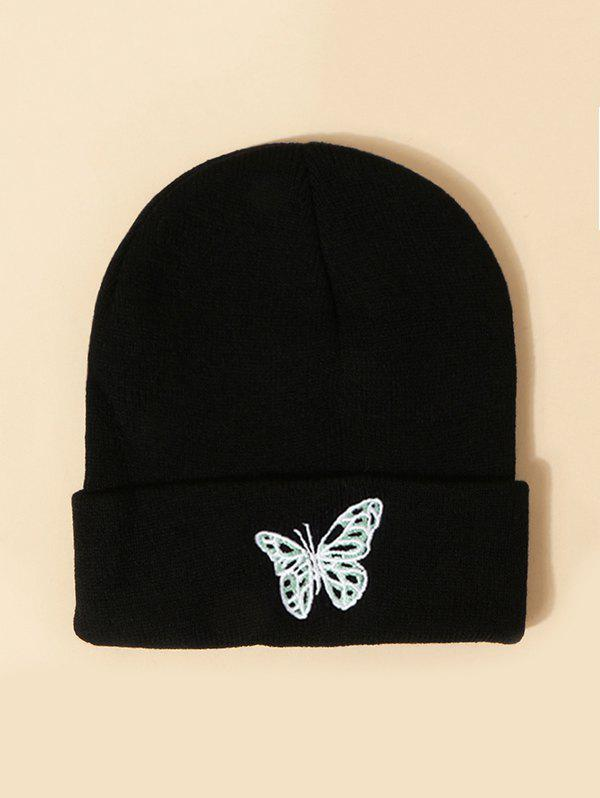 Sale Embroidered Butterfly Pattern Elastic Knitted Hat