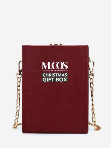 Christmas Letters Pattern Chain Box Bag