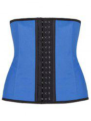 Shapewear Faux Leather Piping Plus Size Corset -