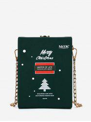Christmas Letters Pattern Chain Box Bag -