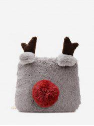 Winter Square Elk Plush Chain Crossbody Bag -