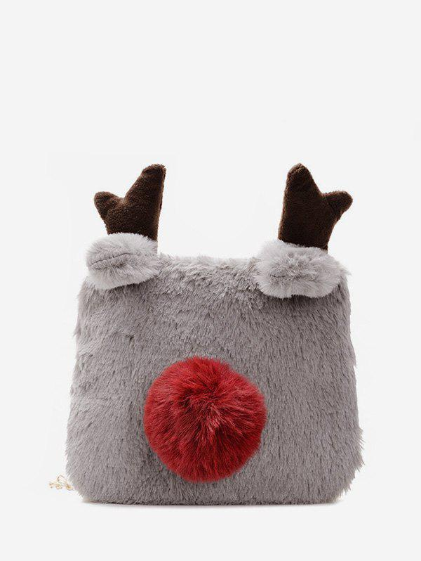 Fashion Winter Square Elk Plush Chain Crossbody Bag