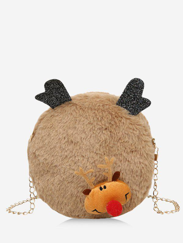 Outfit Christmas Elk Chain Plush Canteen Bag