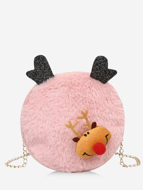 Online Christmas Elk Chain Plush Canteen Bag