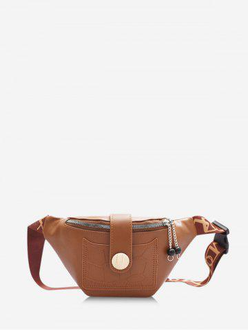 Casual Beads Letter Pattern Strap Waist Bag