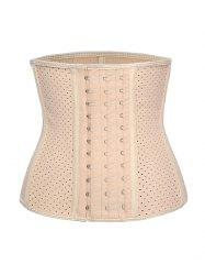 Piping Breathable Shapewear Rubber Plus Size Corset -
