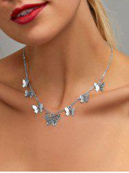 Hollow Out Butterfly Charm Necklace -