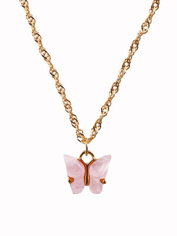 Shops Acrylic Butterfly Charm Chain Necklace