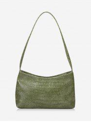 French Style Textured Solid Shoulder Bag -