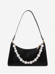 French Style Faux Pearl Rectangle Shoulder Bag -