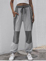 Drawstring Two Tone Marled Joggers -