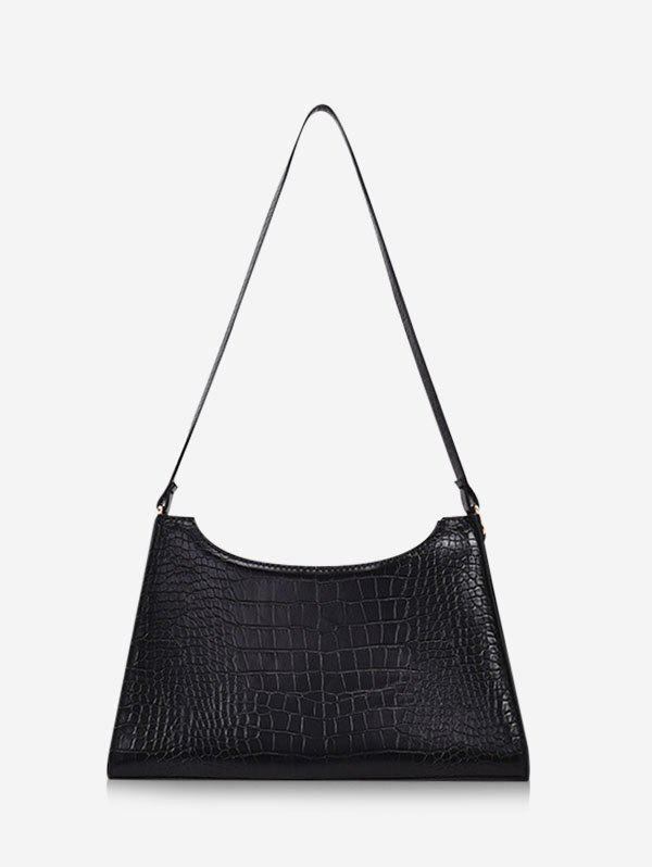 Best French Style Trapezoid Textured Shoulder Bag
