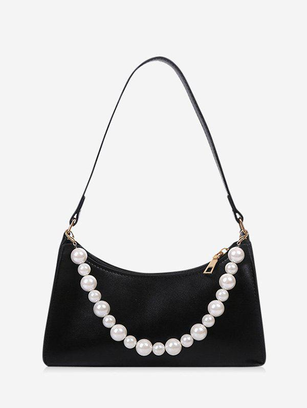 Online French Style Faux Pearl Rectangle Shoulder Bag