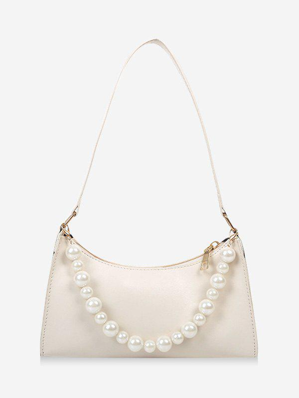 Trendy French Style Faux Pearl Rectangle Shoulder Bag