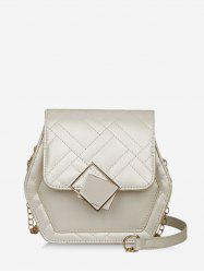 Geometric Chain Quilted Crossbody Bag -