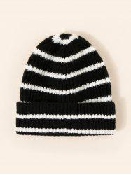 Striped Pattern Winter Knitted Hat -