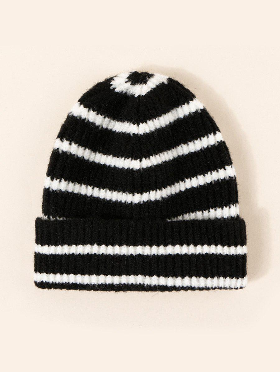 Fashion Striped Pattern Winter Knitted Hat