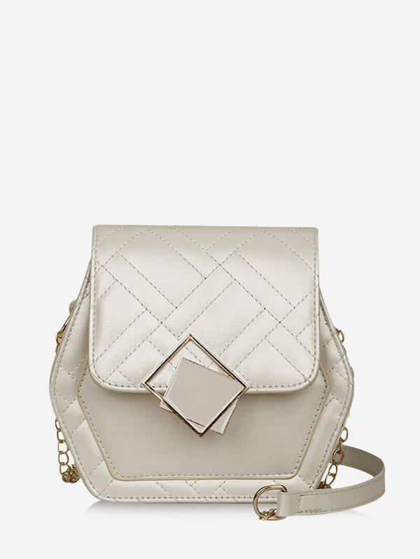 Outfits Geometric Chain Quilted Crossbody Bag