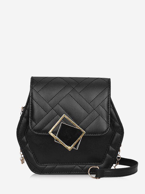 Latest Geometric Chain Quilted Crossbody Bag