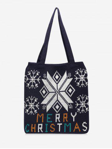 Christmas Tree Pattern Hand-knitted Tote Bag