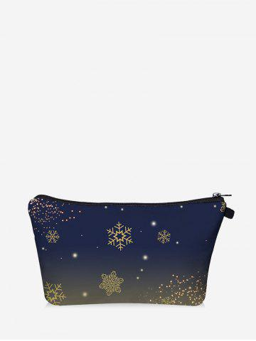 Christmas Snowflake Digital Print Storage Makeup Bag