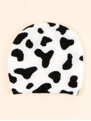 Colorblock Cow Pattern Knitting Hat -