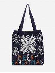 Christmas Tree Pattern Hand-knitted Tote Bag -