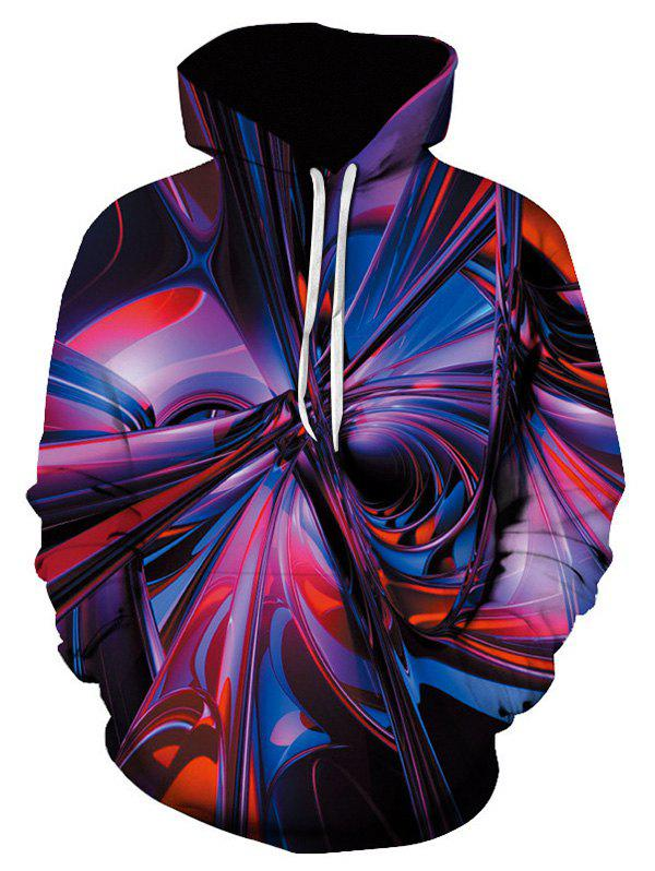 New Colorful Allover Print Kangaroo Pocket Hoodie