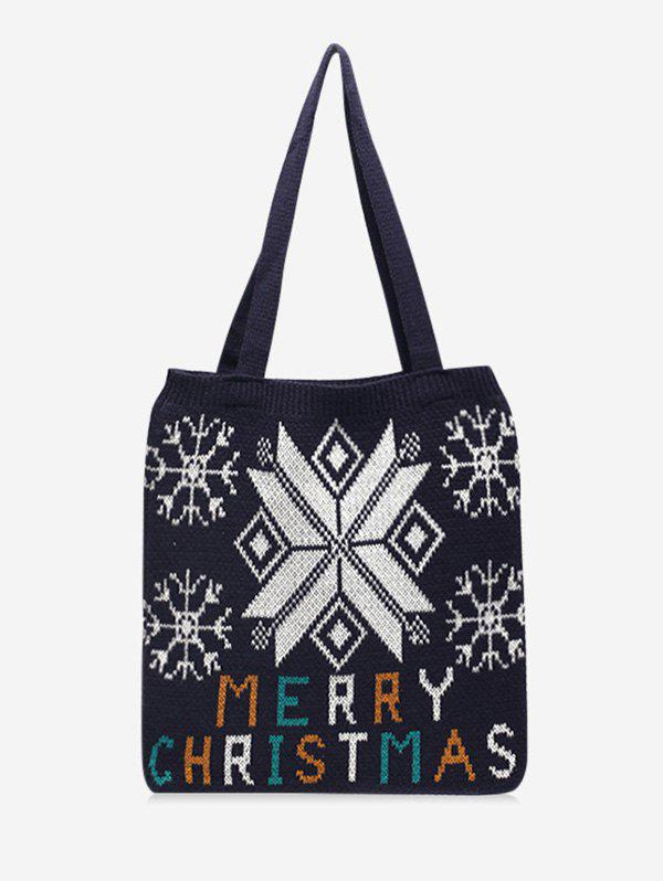 Outfit Christmas Tree Pattern Hand-knitted Tote Bag