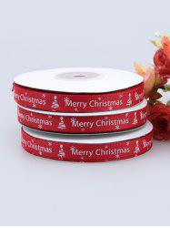 1CM Width Merry Christmas Tree Gift Packing Ribbon -