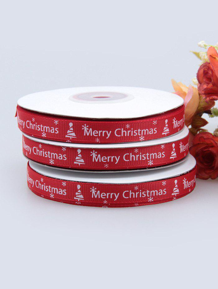 Store 1CM Width Merry Christmas Tree Gift Packing Ribbon