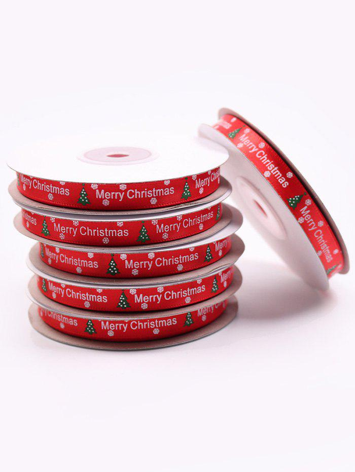 Shops 1CM Width Christmas Tree Gift Packing Ribbon