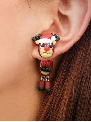 Christmas Cartoon Elk Polymer Clay Earrings -