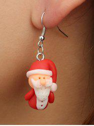 Christmas Santa Claus Polymer Clay Drop Earrings -