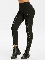 Lace Up High Rise Skinny Pants -