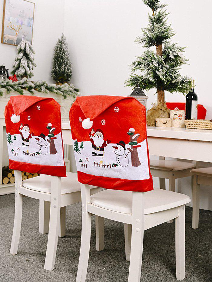 Best Christmas Santa Print Non-woven Chair Back Cover