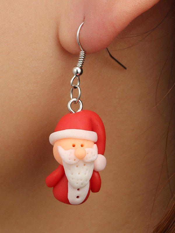 Shops Christmas Santa Claus Polymer Clay Drop Earrings