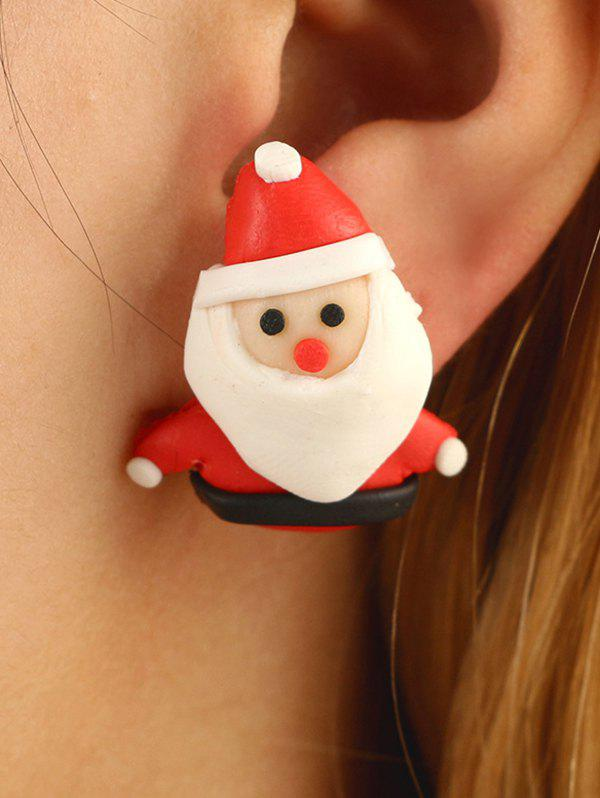 Outfits Christmas Santa Claus Polymer Clay Stud Earrings
