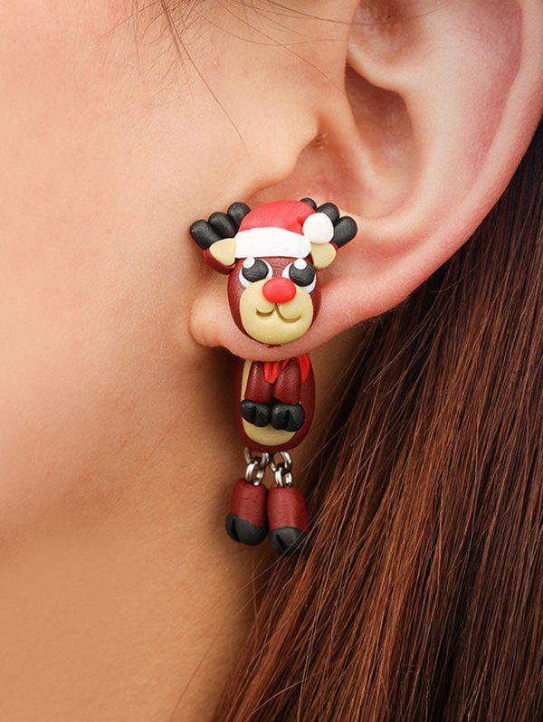 Best Christmas Cartoon Elk Polymer Clay Earrings