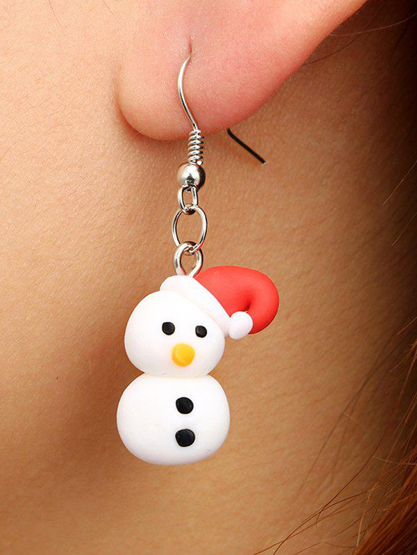 New Christmas Snowman Polymer Clay Drop Earrings