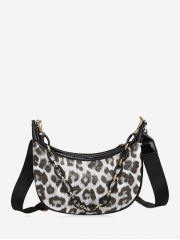 Leopard Printed Chain Crossbody Bag
