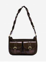 Retro Twist Strap Messenger Shoulder Bag -