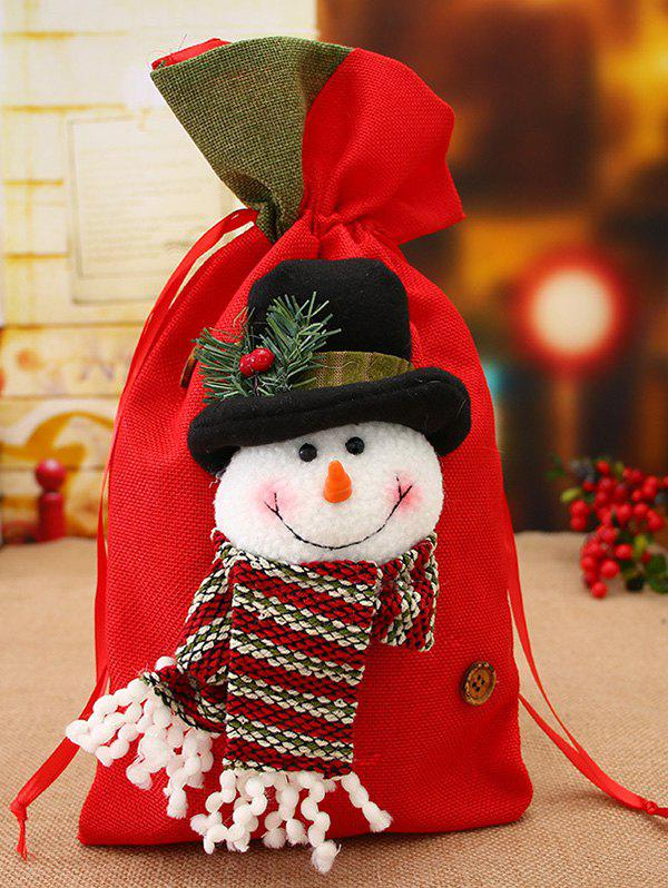 Online Christmas Decoration Drawstring Gift Candy Bag